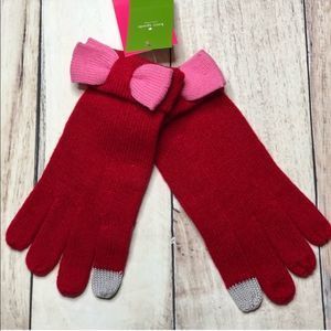 Kate Spade Color Block Bow Gloves